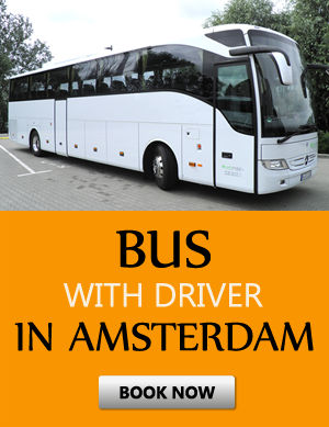 Order bus with driver in Ámsterdam
