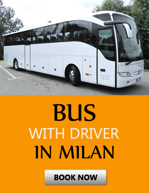 Order bus with driver in Milán