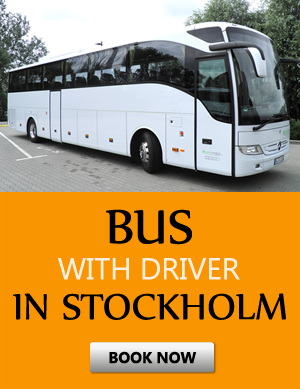 Order bus with driver in Estocolmo