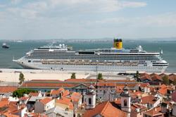 ميناء كروز لشبونة خدمة النقل بمرسيدس الفئة E، S أو حافلة صغيرة فيانو-فيتو